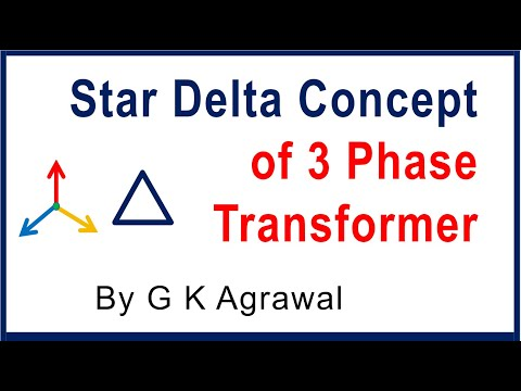 Star delta connection concept in 3 phase transformer - YouTube