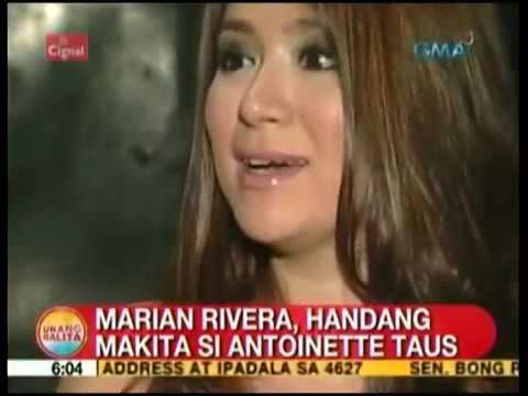 Marian Rivera, Gustong Ma Meet ni Antoinette Taus, UH, 03 11 14