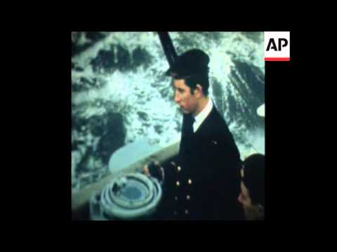 SYND 7-3-72 PRINCE CHARLES TRAINS ON HMS NORFOLK