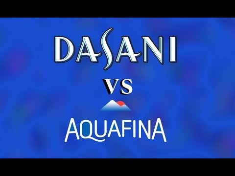 Dasani VS Aquafina WATER TASTE TEST (yes, Really)