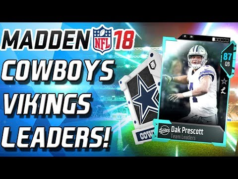 DAK PRESCOTT AND ANTHONY BARR!TEAM LEADERS! - Madden 18 Ultimate Team MUT 18