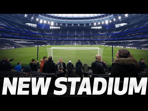 FANS TAKE A LOOK INSIDE SPURS NEW STADIUM