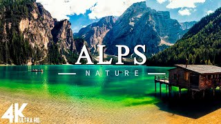 FLYING OVER THE ALPS (4K UHD)  Relaxing Music Along With Beautiful Nature Videos(4K Video Ultra HD)