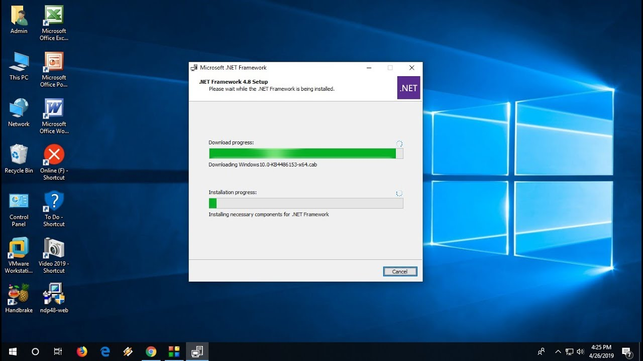 How to Install .Net Framework 20.20 Runtime in Windows 20