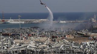 زعماء لبنانيون يزورون موقع انفجار بيروت ويدعون للتعاضد وفتح تحقيق…