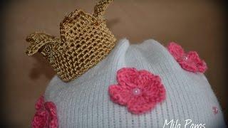 """Вяжем корону для шапочки -  """"Принцесса"""""""