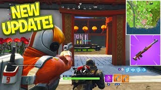 NEW BEST LOOT LOCATION *NEW GUN & TOWN* - FORTNITE BATTLE ROYALE