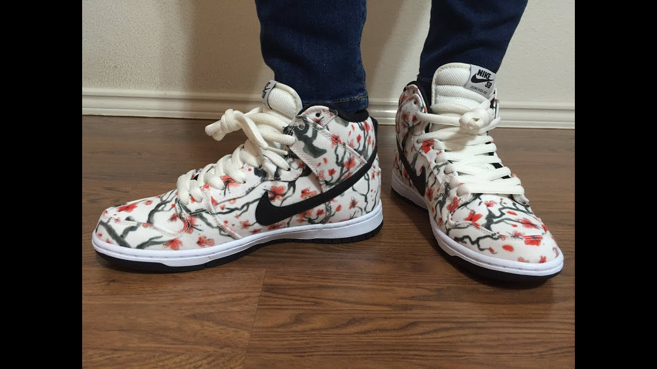 Wife's Nike SB Dunk Cherry Blossom unbox and on foot review