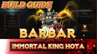 Diablo 3 - Barbar Immortal King HOTA | Build | Guide | Patch 2.6.1 | Skillung | German