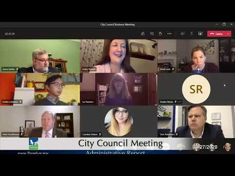 City Council Meeting Oct 27 2020