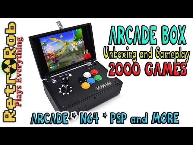 Arcade Box - Pandoras Key 7 Based Portable. Unboxing and Gameplay