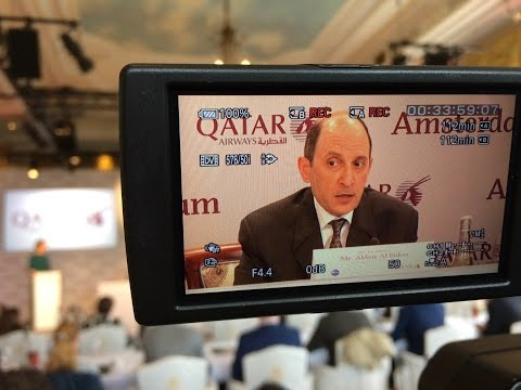 Qatar Airways CEO Al Baker in Amsterdam