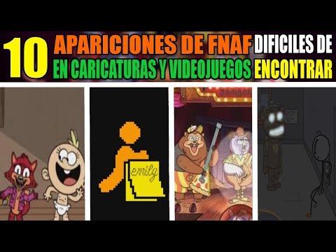 10 APARICIONES de FIVE NIGHTS AT FREDDY'S en CARICATURAS y VIDEOJUEGOS DIFICILES de ENCONTRAR