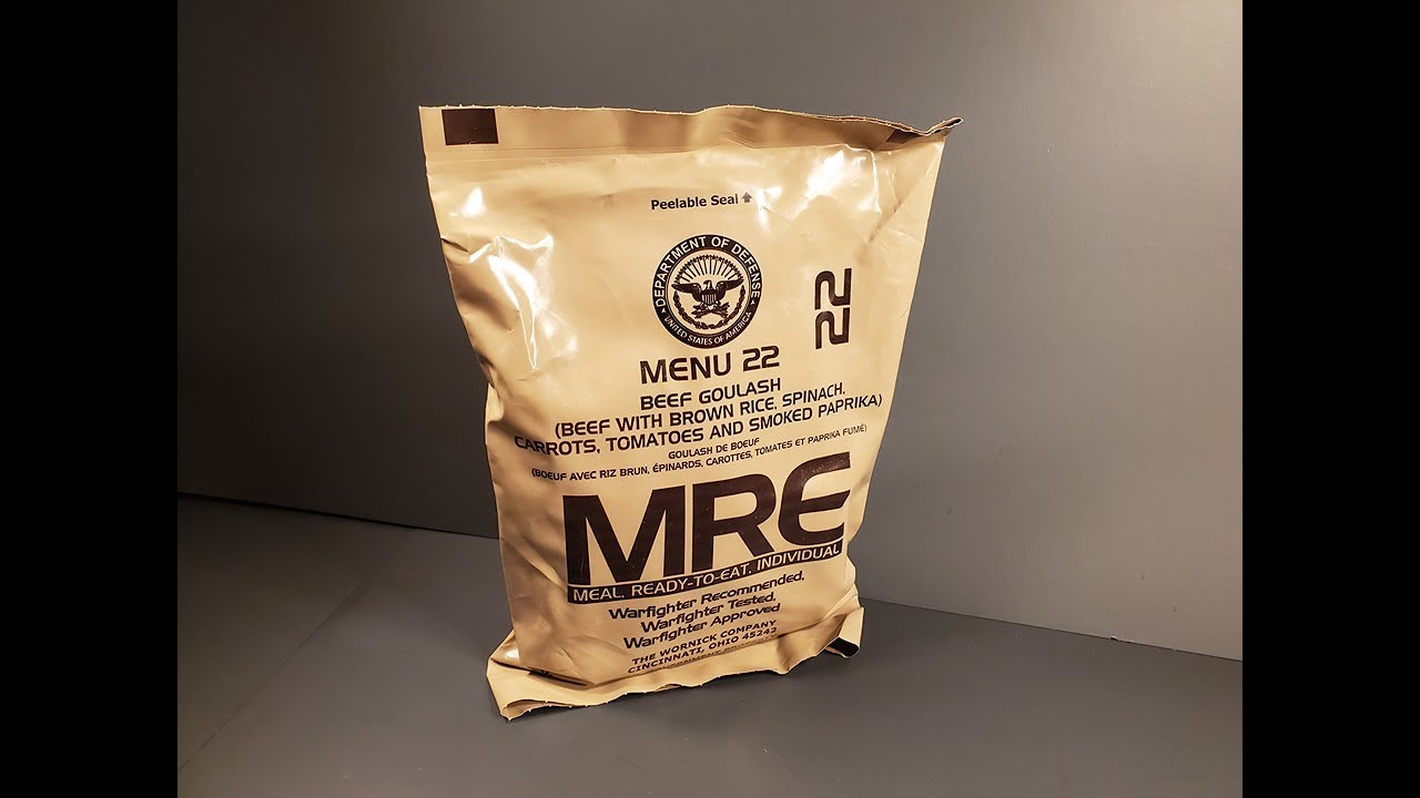 MRE MEAL READY-TO-EAT ALL MENUS