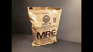 2019 MRE Beef Goulash Meal Ready to Eat Review US Ration Taste Testing