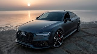2017 Audi RS7 Performance (605hp) - Dances beautifully at the beach (slow motion drift)