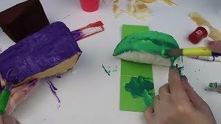 Squishy Yapıyoruz! karpuz vs pasta dilimi Challenge Sukuşi Nasıl Yapılır DIY Sukuşi  Bidünya Oyuncak