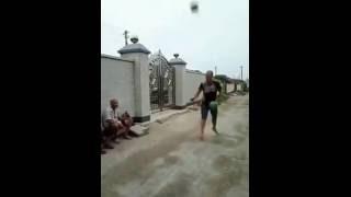 Арбуз вместо мяча