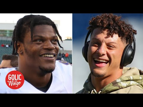 Lamar Jackson Is Challenging Patrick Mahomes As The QB Of The Future - Mike Golic   Golic And Wingo