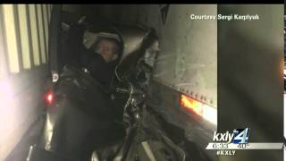 Mesa man beats odds, survives I-84 chain reaction crash