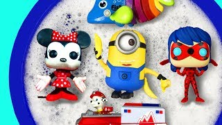 Learn Colors with Paw Patrol, Ladybug, Minnie Mouse, Animals, Barbie and Super Heroes