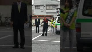 中津川ひろさと、早朝茨城県議会議員補欠選挙て県民ファーストの荒山ちあき候補の応援に駆けつける。
