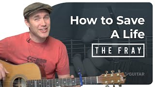 How To Save A Life - The Fray (Easy Beginner Song Guitar Lesson BS-307) How to play