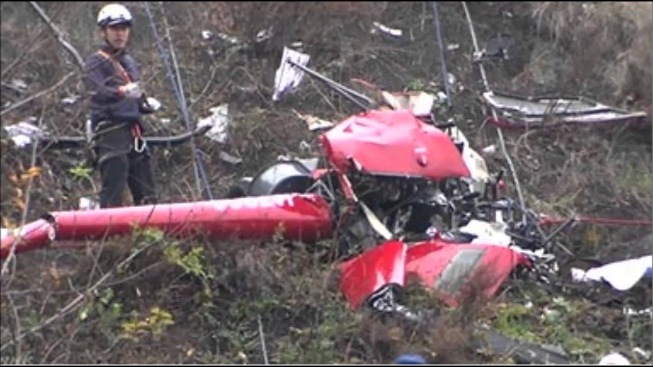 ヘリコプター墜落 男性2人死亡 群馬・安中 - YouTube
