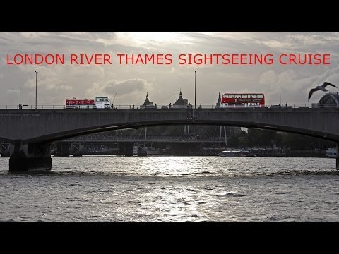 London's River Thames - a sightseeing boat trip cruise