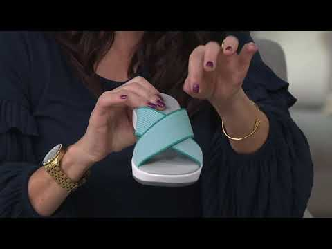 CLOUDSTEPPERS By Clarks Cross Band Slide Sandals - Arla Elin On QVC