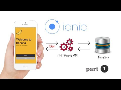 Ionic 3 Angular 4 PHP Token Based Restful API User Authentication Login and Signup.