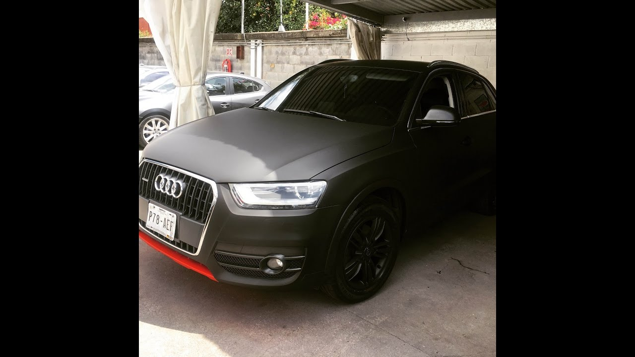 audi q3 tuning en vinil negro mate youtube. Black Bedroom Furniture Sets. Home Design Ideas