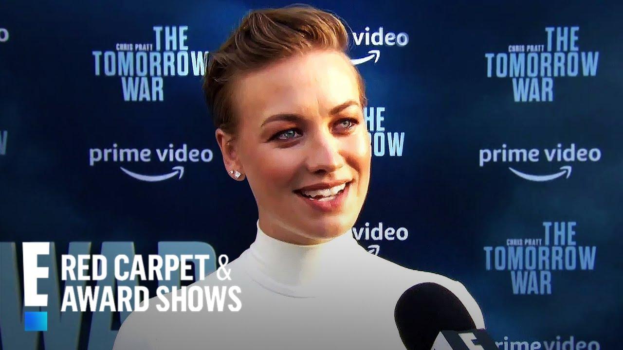 Yvonne Strahovski reveals she's pregnant at movie premiere