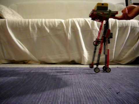Lego actuated passive walker