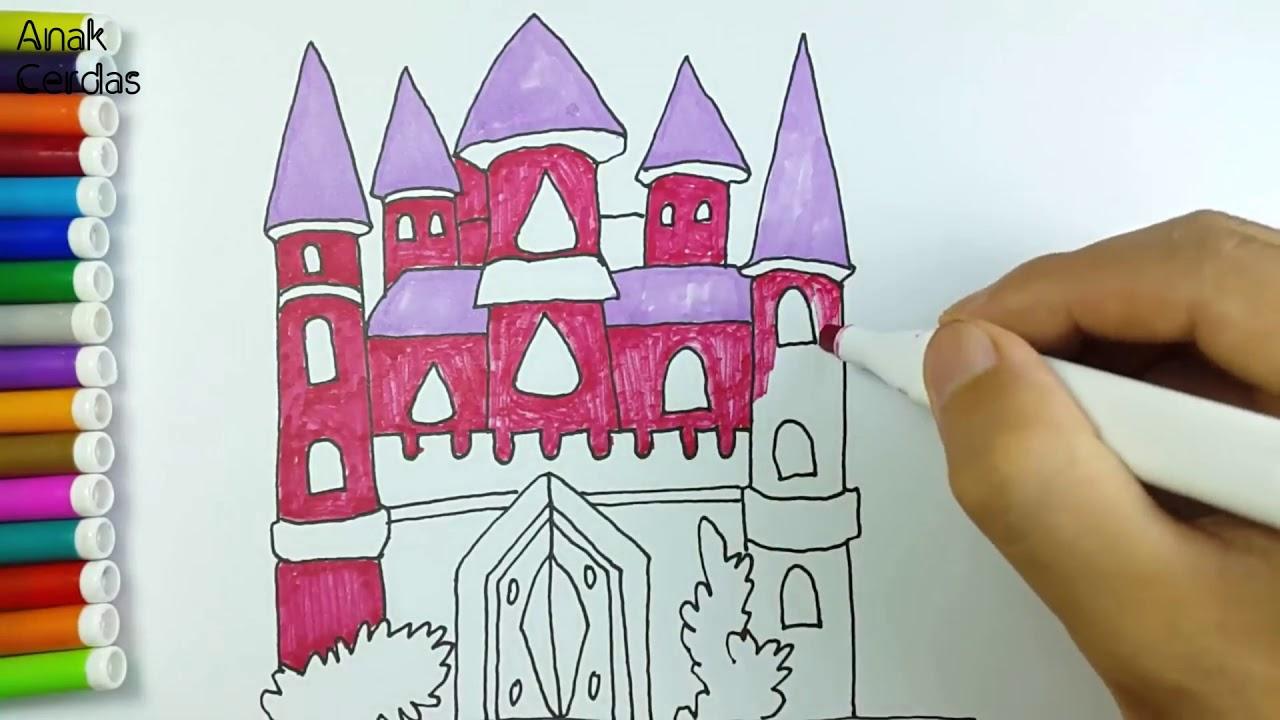 Belajar Menggambar Dan Mewarnai Istana Youtube
