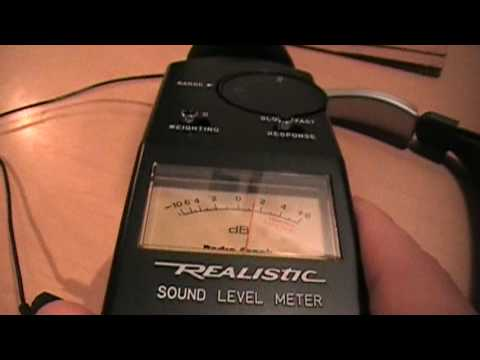 realistic sound level meter youtube. Black Bedroom Furniture Sets. Home Design Ideas