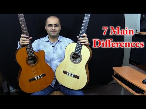 Guitar 106 - Flamenco Guitar vs Classical Guitar - English (Dr. ANTF)