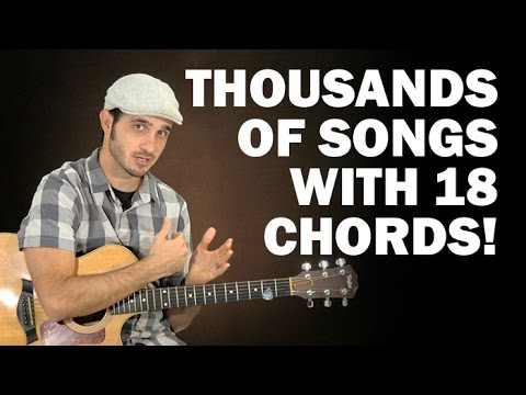 Guitar 18 guitar chords : Play thousands of songs with 18 easy chords! | Beginner guitar ...