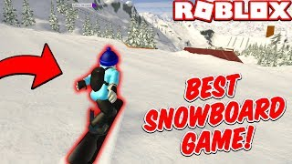 THE BEST SNOWBOARD GAME IN ROBLOX!!