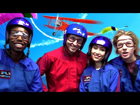 INDOOR SKYDIVING WITH SMOSH (Squad Vlogs - Field Trip)