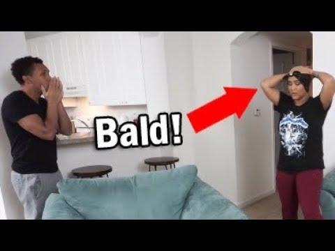 I'm BALD Prank on Boyfriend!!