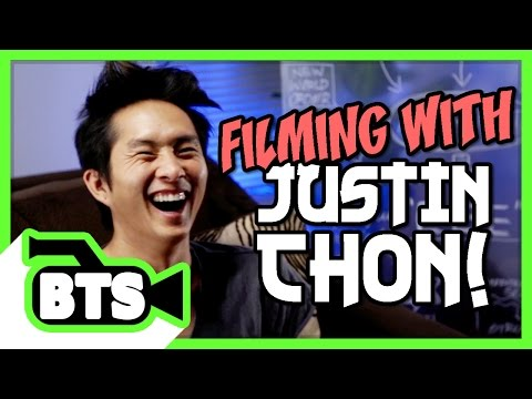 Filming with Justin Chon! BTS