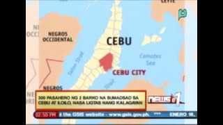 300 Pasahero Ng 2 Barko Na Sumadsad Sa Cebu At Iloilo, Nasa Ligtas Nang Kalagayan - 1/16/14