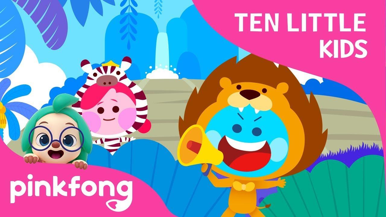 Ten Little Jungle Kids | Ten Little Kids Songs | Pinkfong Songs for Children