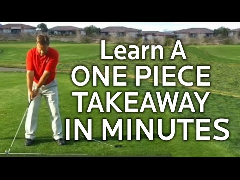 golf backswing learning the one piece takeaway youtube. Black Bedroom Furniture Sets. Home Design Ideas