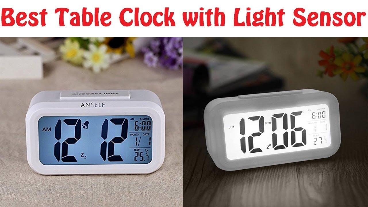 Merveilleux Best Digital Table Clock With Light Sensor