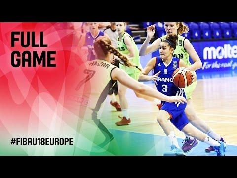 Slovenia v France - Full Game - FIBA U18 Women
