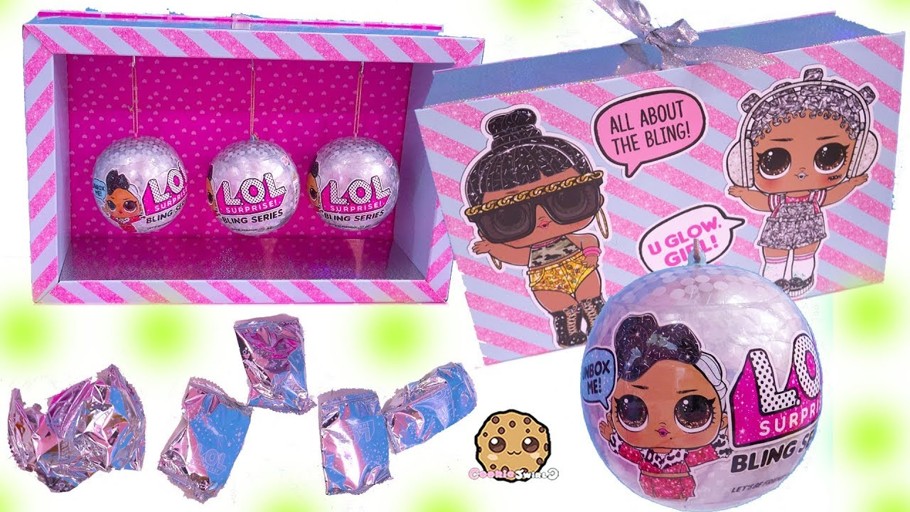 2 Ball Lot LOL SURPRISE BLING Doll Holiday Big Sister Series 1 NEW Free Ship