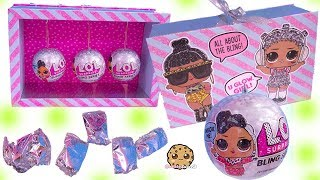 LOL Surprise BLING Blind Bag Balls ! Holiday Glitter Dolls - Toy Video