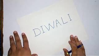 Diwali Word Into drawing || Diwali Fun 2017